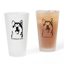 The Malamute Smile Drinking Glass