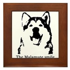 The Malamute Smile Framed Tile