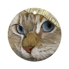 Latte Hiding III Keepsake Ornament (Round)