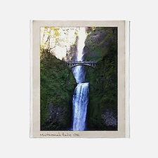 Multnomah falls, OR Throw Blanket