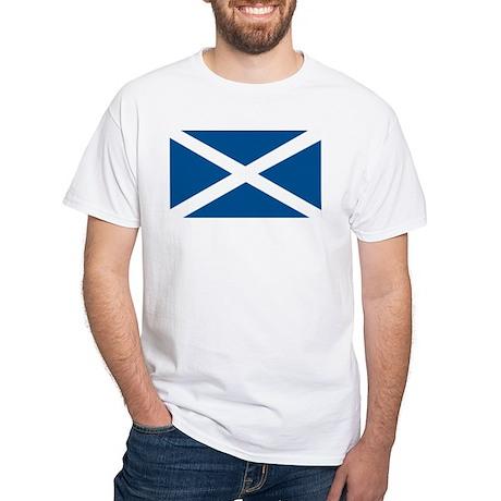 Scotland Flag, Scottish Flag White T-Shirt
