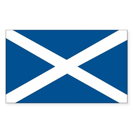 Scotland Flag, Scottish Flag Rectangle Sticker