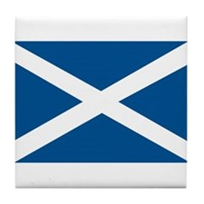 Scotland Flag, Scottish Flag Tile Coaster