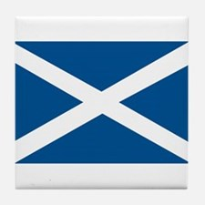Scotland Flag, Scottish Flag Tile Coaster