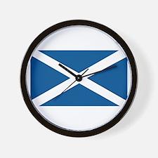 Scotland Flag, Scottish Flag Wall Clock