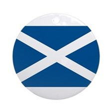 Scotland Flag, Scottish Flag Ornament (Round)