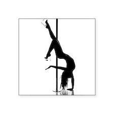 """pole dancer 1 Square Sticker 3"""" x 3"""""""