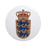 Denmark Coat of Arms Ornament (Round)