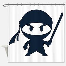 Angry ninja Shower Curtain
