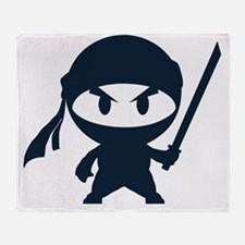 Angry ninja Throw Blanket