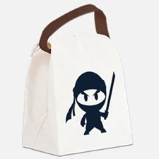 Angry ninja Canvas Lunch Bag