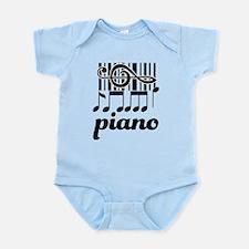 Piano Music Design Infant Bodysuit