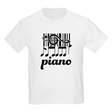 Piano Music Design T-Shirt