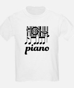 Piano Music Design T-Shirt