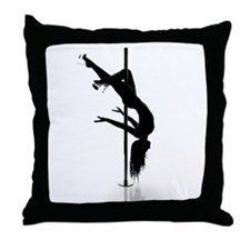 pole dancer 3 Throw Pillow