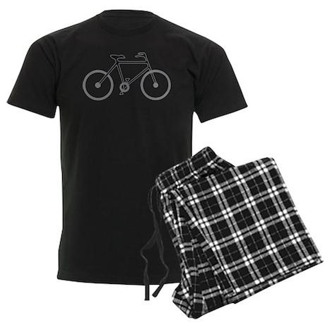 Black and Silver Cycling Men's Dark Pajamas