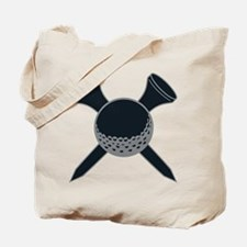 Black and Silver Golf Tote Bag