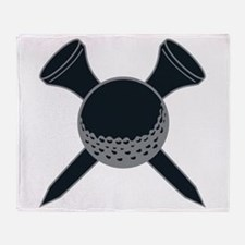 Black and Silver Golf Throw Blanket