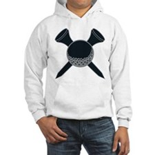 Black and Silver Golf Jumper Hoody