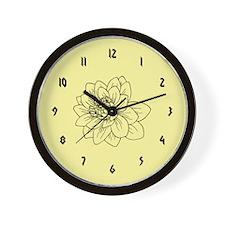 Cream Flower Wall Clock