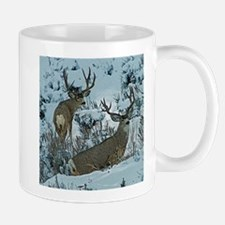 Bucks in snow 2 Mug