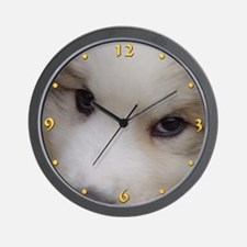 """Great Pyrenees Wall Clock """"Puppy Eyes"""""""