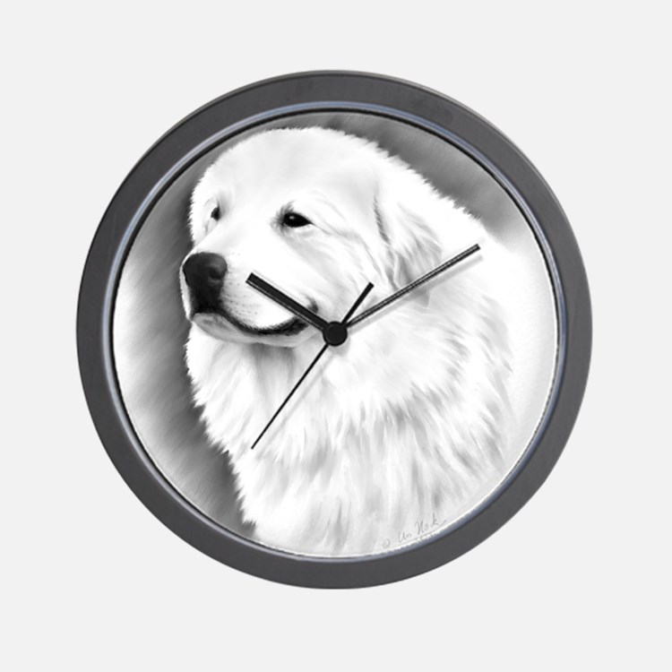 Great Pyrenees Bairney 2 Wall Clock
