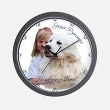 Great Pyrenees Wall Clock - Hugging time !