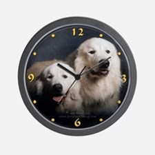 Great Pyrenees Couple<br>Wall Clock