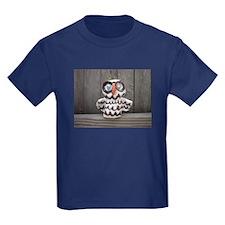 Ceramic Owl by Lisa Kobis. Kids Dark T-Shirt