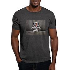 Ceramic Owl by Lisa Kobis. Dark T-Shirt