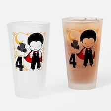 Boys Halloween 4 Drinking Glass