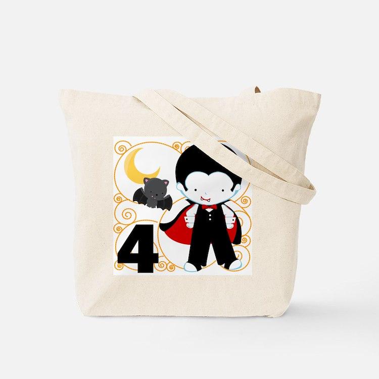 Boys 4 Halloween Tote Bag