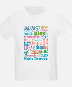 Music Therapy Colorful T-Shirt