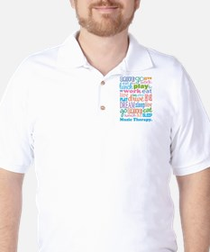 Music Therapy Colorful Golf Shirt