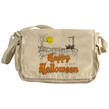 Halloween Graveyard Messenger Bag