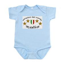 italia campioni - oval Infant Creeper