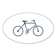 Blue and White Cycling Decal