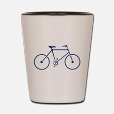 Blue and White Cycling Shot Glass