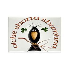 Gaelic Black Crow Rectangle Magnet (10 pack)