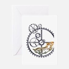 Industrial Hamster in a wheel Greeting Card