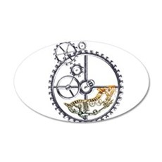 Industrial Hamster in a wheel 20x12 Oval Wall Deca