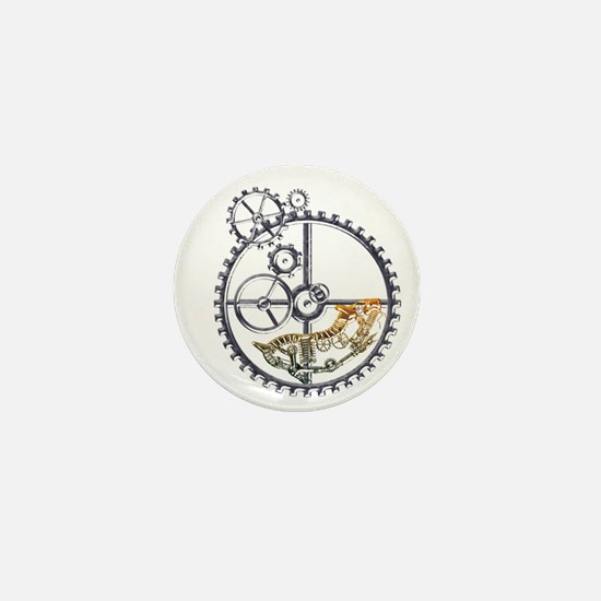 Industrial Hamster in a wheel Mini Button (10 pack