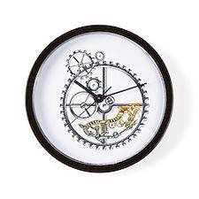 Industrial Hamster in a wheel Wall Clock