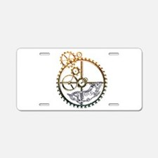 Industrial Silver Hamster Aluminum License Plate