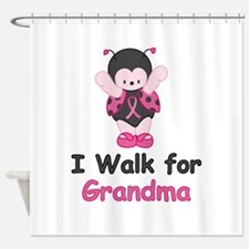 Walk For Grandma Shower Curtain