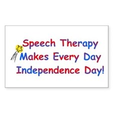 Speech Therapy Independence Rectangle Decal