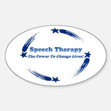 Power of Speech Therapy Oval Decal