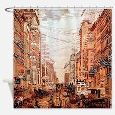 Broadway Street Vintage Shower Curtain