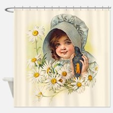 Vintage Girl 2 Shower Curtain